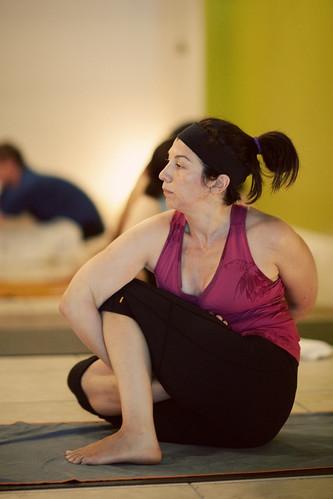 stacey soll in marichyasana d at the yoga shala in winter