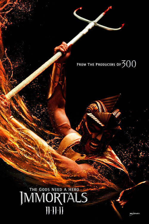 Immortals 2011 Poseidon Movie Poster For Immortals Rele