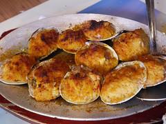 火, 2011-04-19 12:15 - Taverna Kyclades Stuffed shrimp w/ crabmeat 蟹肉入り海老の詰め物