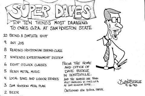 Houstonian 1990 cartoon