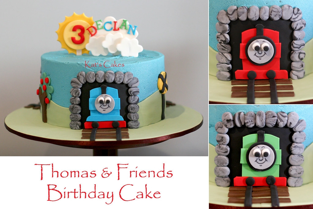 Amazing Thomas Friends Cake Theme Thomas The Tank Cake Top De Flickr Birthday Cards Printable Opercafe Filternl