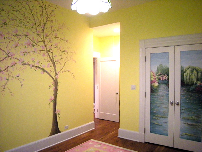 Magnolia Tree Baby Girl Nursery Mural Welcome To My Flic Flickr