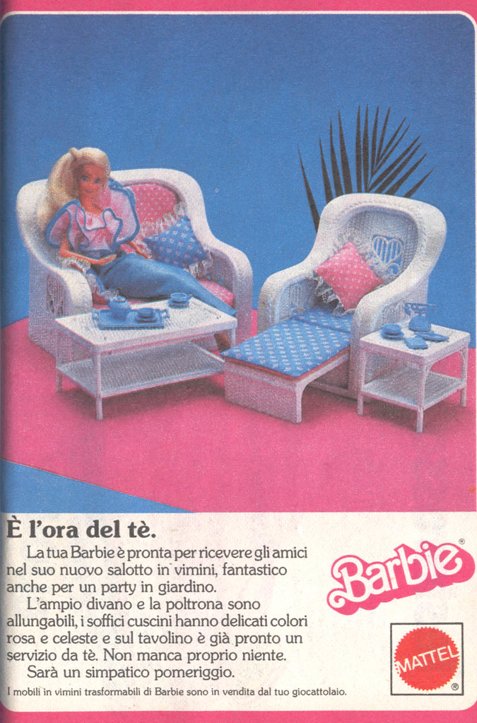Tavolo Trasformabile E Allungabile.Barbie Advertising Pubblicita Di Barbie 1986 Barbie F Flickr