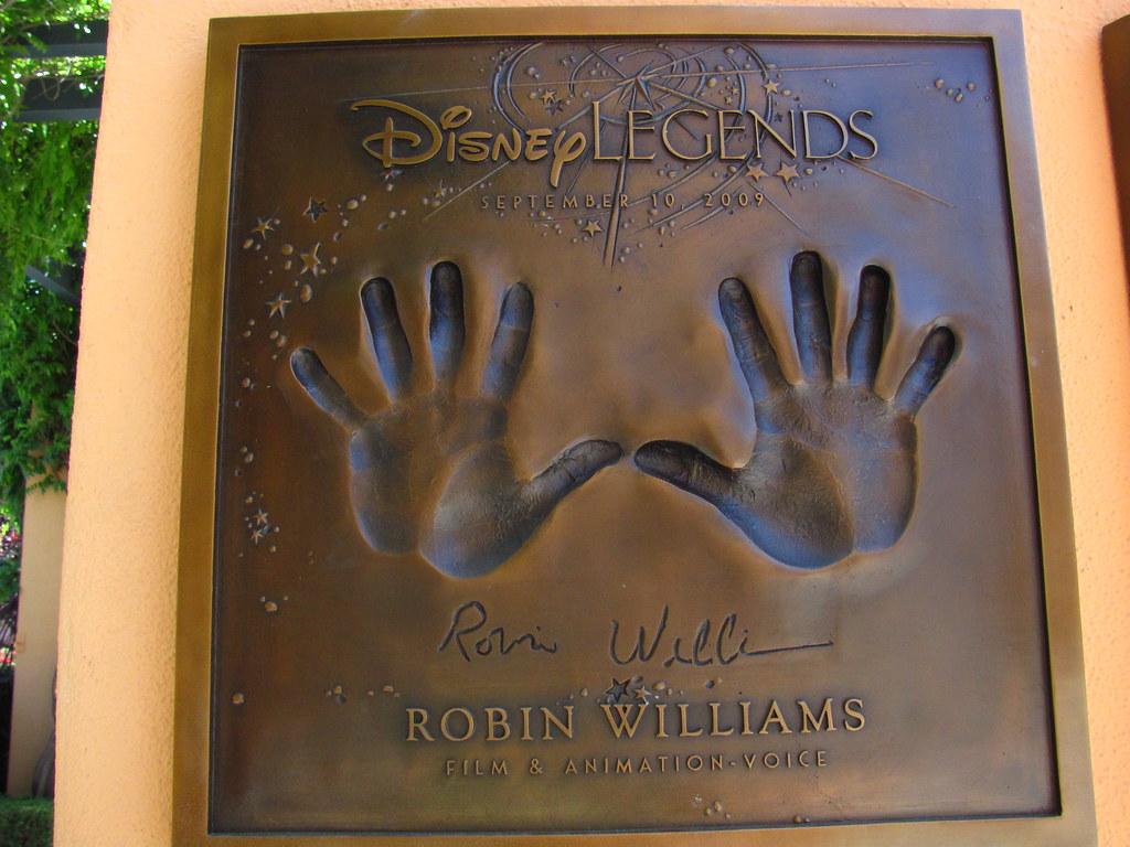 Robin Williams Disney Legend at the Disney Legends Plaza