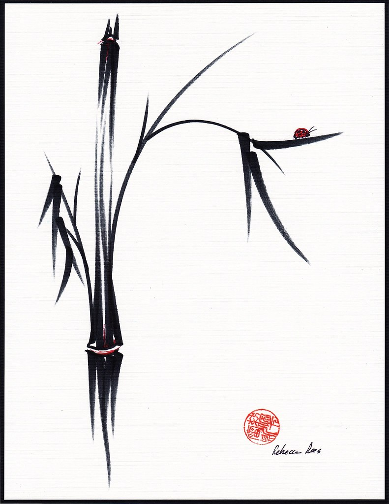 Gentle Soul Chinese Japanese Ink Brush Pen Painting Flickr