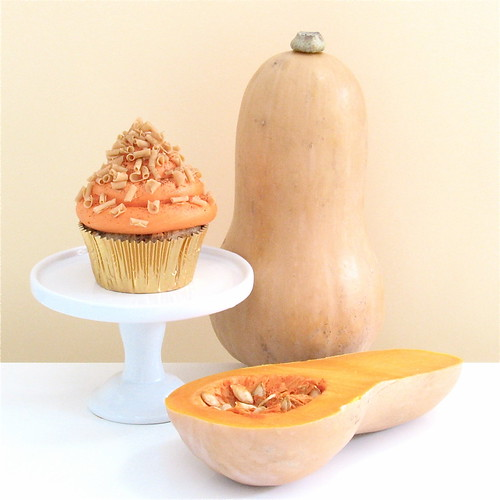 Spiced butternut squash and white chocolate cupcakes | by gilly.flower / Gill Smith