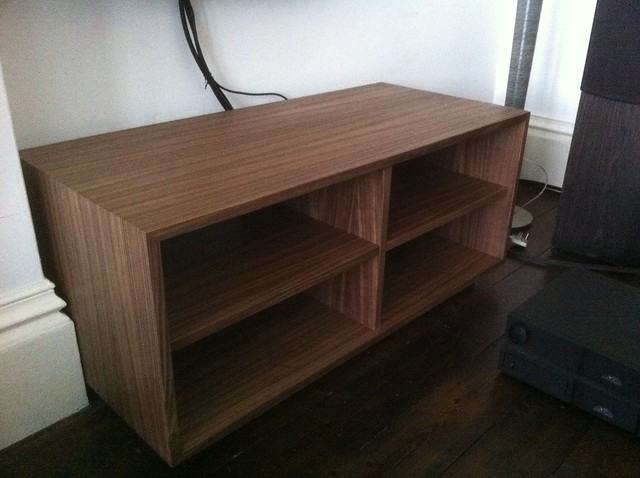 TV Unit In American Walnut Veneer