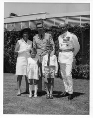 Investiture reception Cyprus 1968. Air Commodore Gordon-Jones on right.
