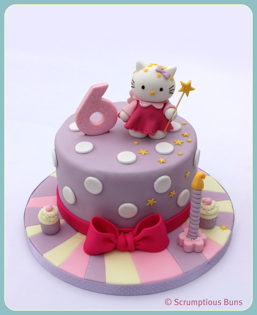 Super Hello Kitty Birthday Cake The First Hello Kitty Birthday C Flickr Funny Birthday Cards Online Inifodamsfinfo