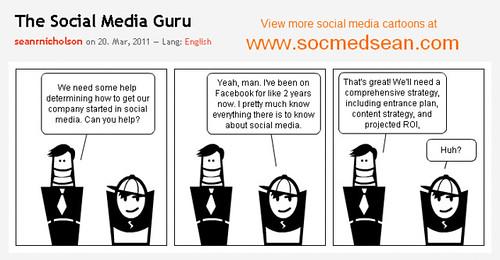 The Social Media Guru Cartoon Comic