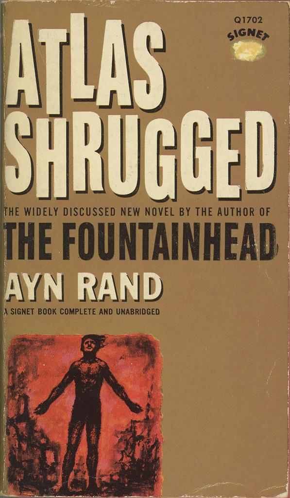 Signet Books Q1702 Ayn Rand Atlas Shrugged Ayn Rand