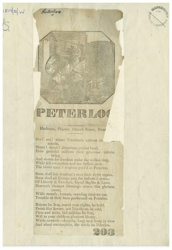 Poem about Peterloo, 1819