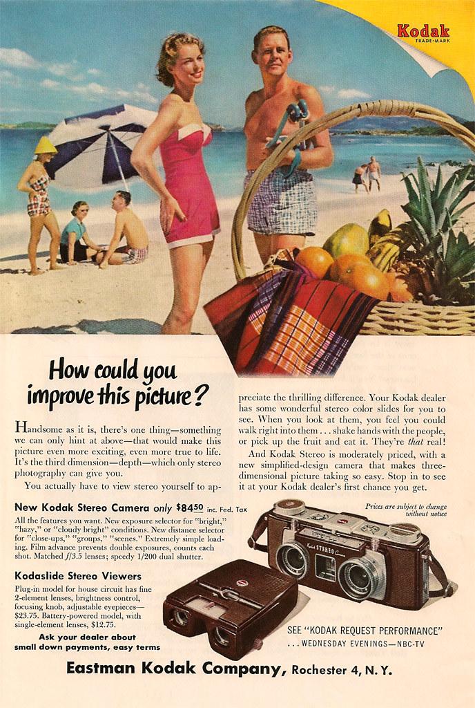 Kodak Stereo Camera Ad - 1955 | Casual Camera Collector | Flickr