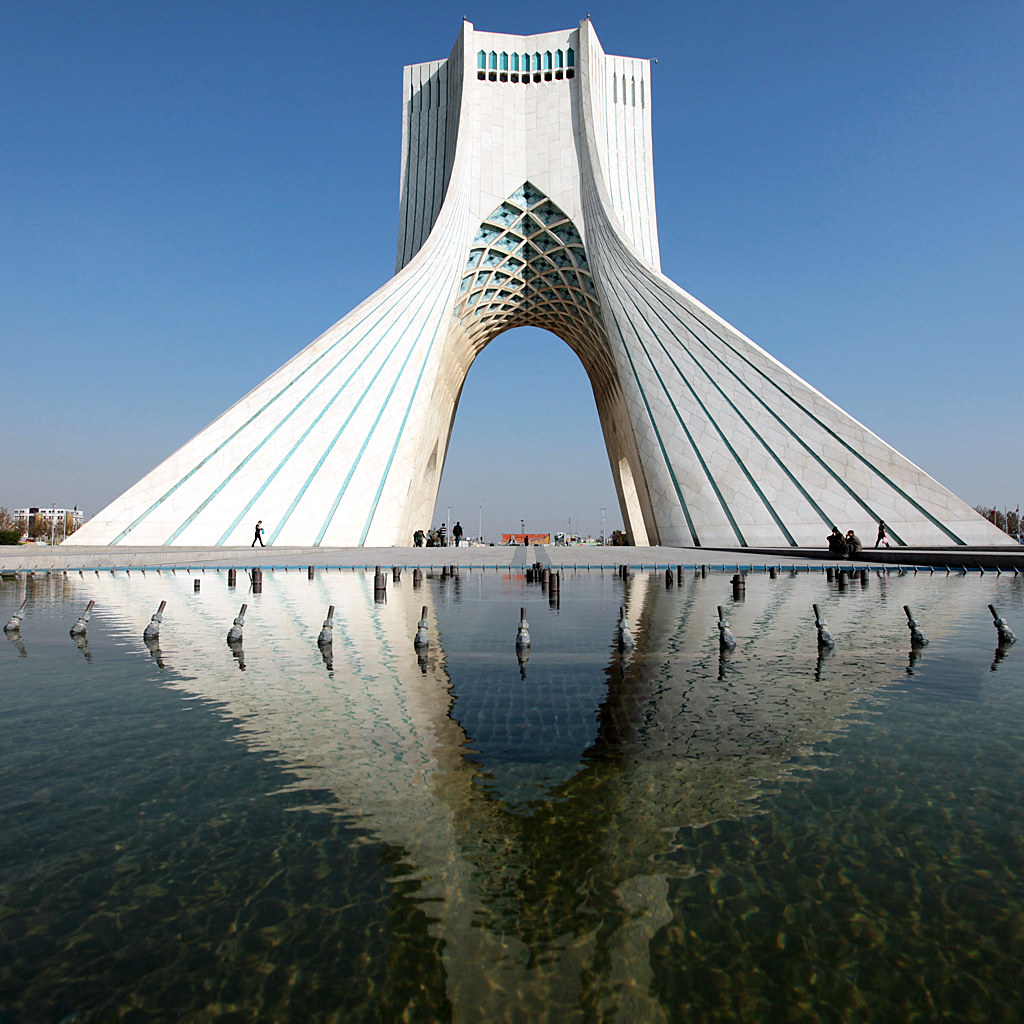 Azadi Tower In Tehran Iran The Azadi Tower Persian