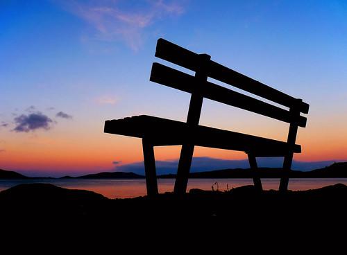 new sunset sky black dan silhouette port bench lumix web panasonic zealand nz otago dunedin tones hdr chalmers goodwin fz38 fz35 pommedan