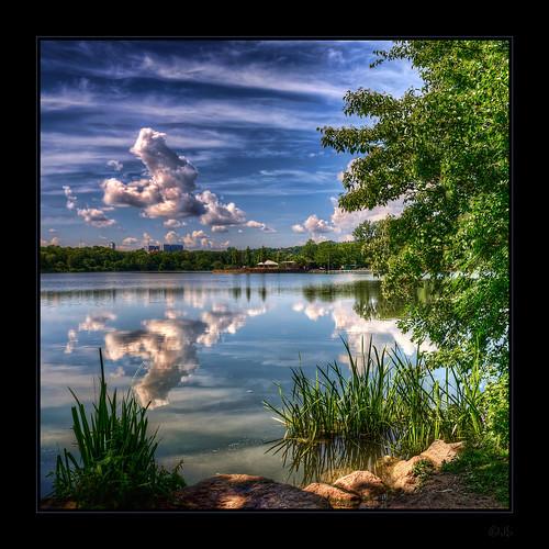 lake reflection nikon stuttgart hdr d90 maxeythsee nikond90 saariysqualitypictures kemoauc