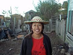 Enriqueta con sombrero Poblano; Las Canoas (en los limites con Zacatecas), Durango, Mexico