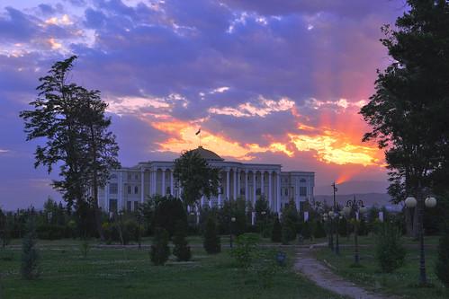 sunset sky beautiful asia central tajikistan dushanbe