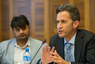 """UN Special Rapporteur David Kay (freedom of opinion and expression) speaks during the June 16 side event """"Religion Meets Rights"""" organized by FORUM-ASIA 