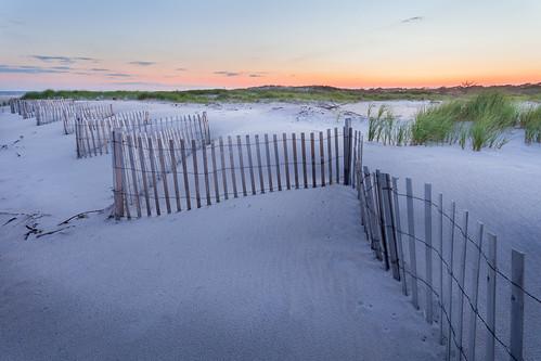 sunset sky beach fence dusk d dune scenic shore sands seashore