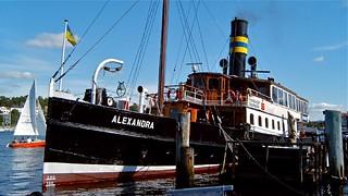 """im Flensburger Hafen - Flensburg - Schwimmendes Wahrzeichen der Stadt Flensburg Der Salondampfer Alexandra in der Stadt bzw. Hafen in Flensburg. Die """"ALEX"""" war nicht nur im 19. Jahrhundert ein sehr begehrter Ausflugsdampfer. Das Dampfschiff wurde 190"""