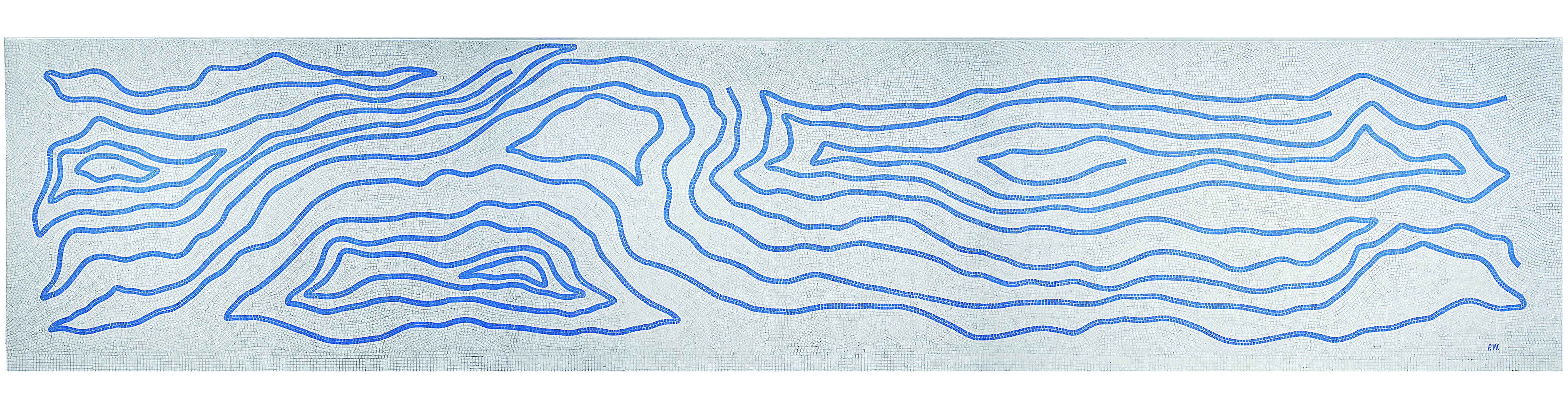 Sem Título Autor Paulo Werneck Técnica: Mosaico em pastilha de cerâmica  Dimensões: 2,54m x 12m