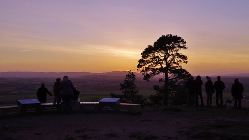 sunset haughmond hill shropshire sun sky light colour bright evening winter