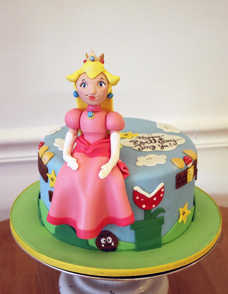 Surprising Mario Princess Peach Cake Princess Peach Mario Birthday Flickr Personalised Birthday Cards Paralily Jamesorg