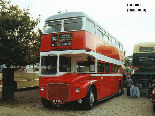 RML 880, WLT 880, AEC Routemaster (1), Park Royal Body H40-32R, 1960