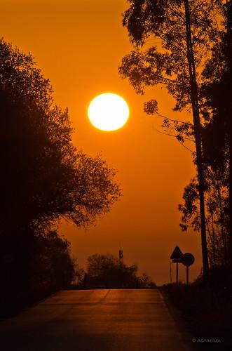 road sun sol sunrise explore amanecer risingsun smcpentaxda300mmf40edifsdm