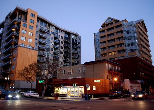 Downtown San Diego at Dusk: Apartments, Condos & High-End ...