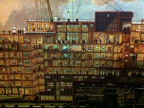 Queen Mary - Cutaway Mural in Museum. (We Stayed Around 56) | by Miss Shari