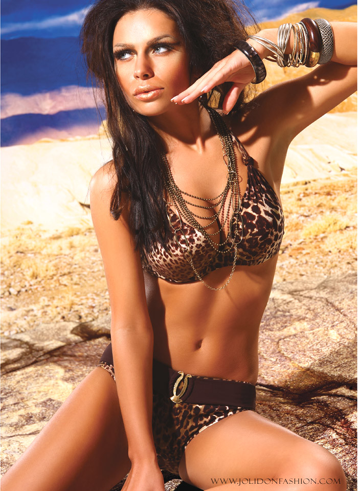 7160deab09994 ... Designer Leopard Print Push-Up Bust Enhancing Swimsuit by Jolidon | by  AndraNovac