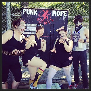 Let the Punk Rope Games begin! Let's go Team Cats Meow #cattitude | by killerfemme