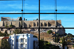 Acropolis' view from the Acropolis Museum
