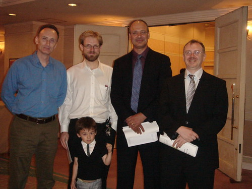 Mario McKenna, Quint Oga-Baldwin and His Son, Me and Joe Swift at Kanzaki Sensei's Celebration | by Mark Tankosich