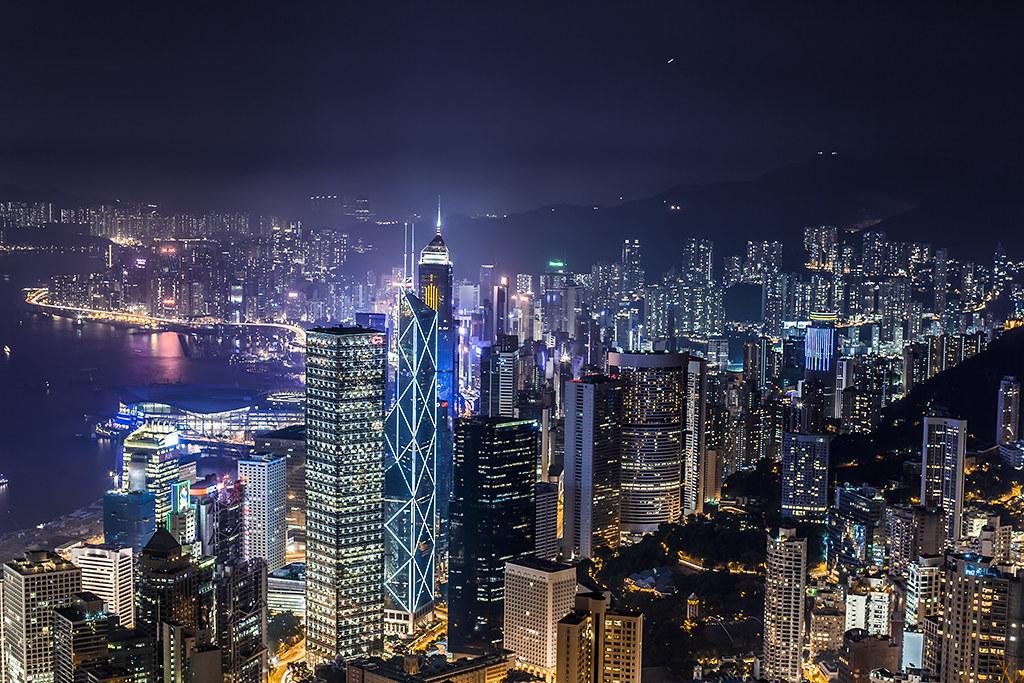 Hong Kong Night View From The Peak Hong Kong Night View Fr
