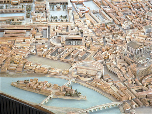Maquette de Rome (musée de la civilisation romaine, Rome) | by dalbera