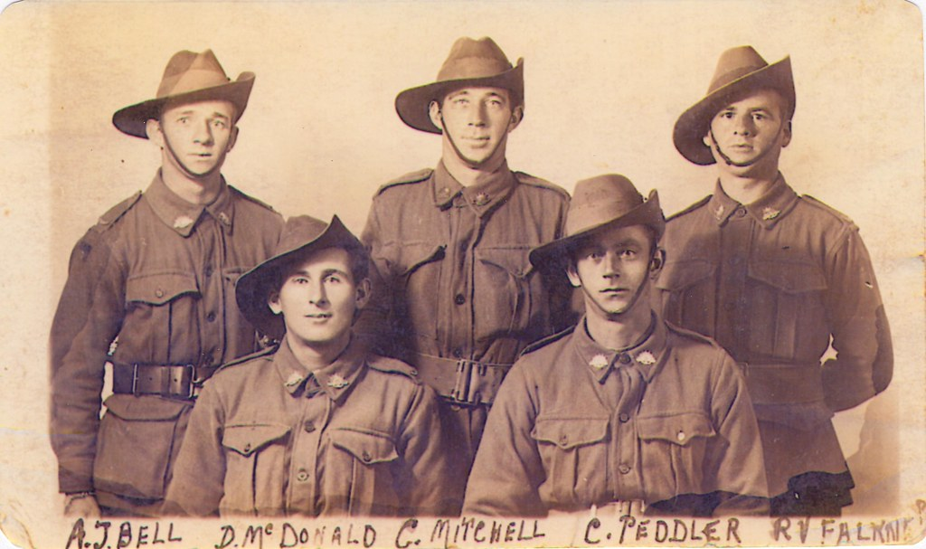 LEST WE FORGET - five Australian soldiers - WW1