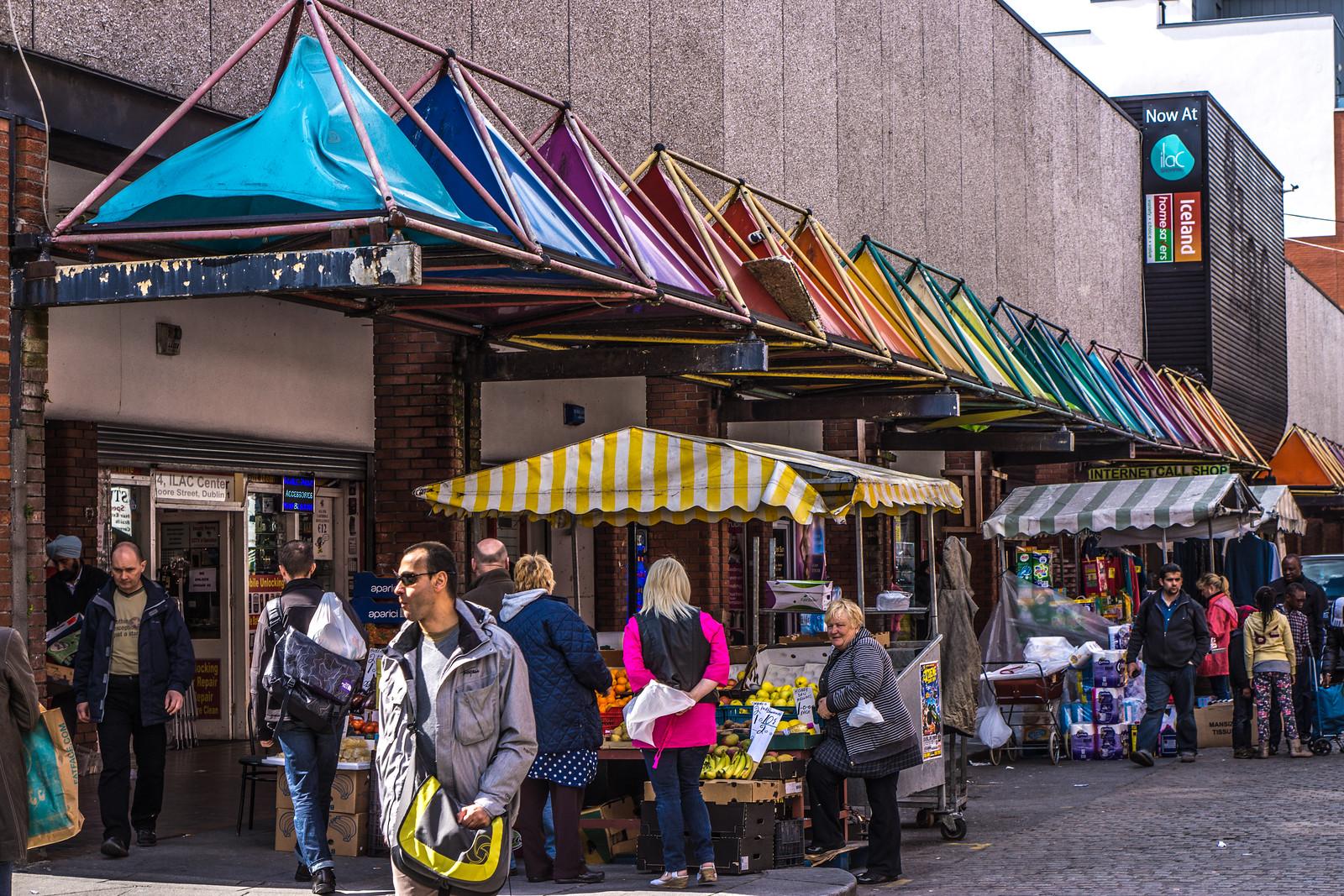 Moore Street - Famous Market Street (Dublin)