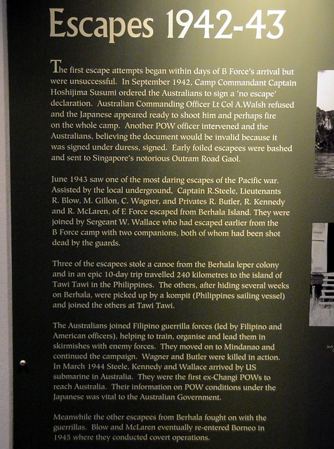 Sandakan Memorial Park - Escapes 1942-43.