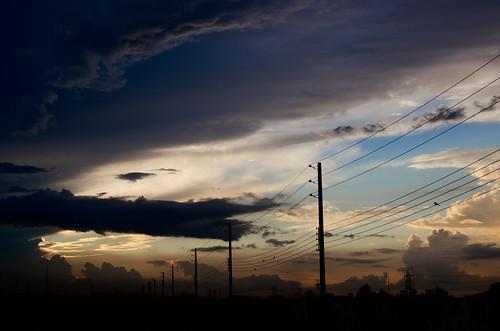sunset cloud digital nikon dusk stormy dhaka bangladesh dhakadivision aftabnagar sheikhshahriarahmed