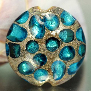 Lampwork Focal Glass Bead, Ocean Blue 3 | by lajewelrydesigns