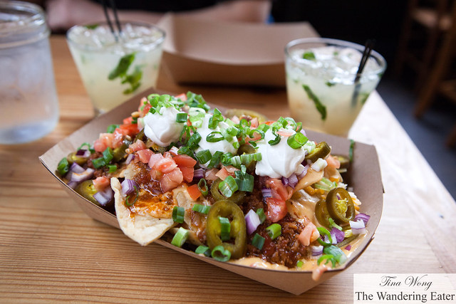 Chili nachos and Smoked orange margaritas (special for Cinco de Mayo)