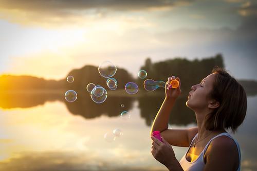 sunset woman lake water nikon bubbles latvia nikkor d600 latgale ludza