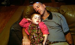 Lauryn and Dad napping