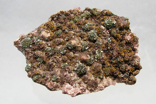 Marcasite crystals on dolomite   by Paul's Lab