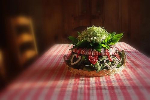 Arrangement floral rustique