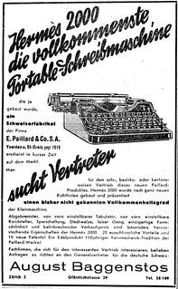 Hermes 2000 typewriter | by shordzi