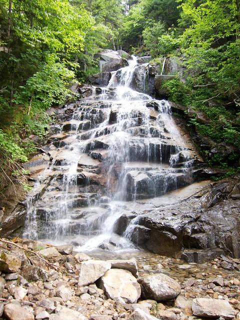 0:45:12 (13%): waterfall hiking newhampshire whitemountains franconianotch mtlafayette fallingwaterstrail mtlincoln franconiarange